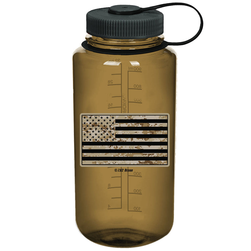 Patriotism is not a Crime 7.62 Design 32oz Nalgene 501 Bottle Blue
