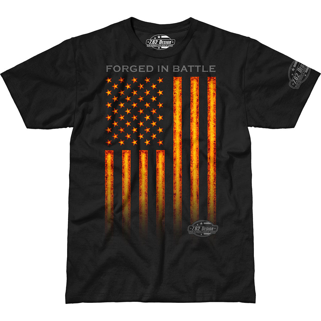 Forged In Battle 7.62 Design Military Patriotic T Shirt