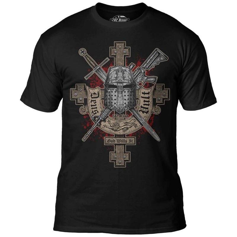 'Deus Vult' (God Wills It) 7.62 Design Premium Men's T-Shirt- 7.62 Design