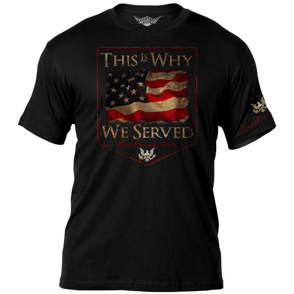 Veterans 'This Is Why We Served' 7.62 Design Battlespace Men's T-Shirt- 7.62 Design