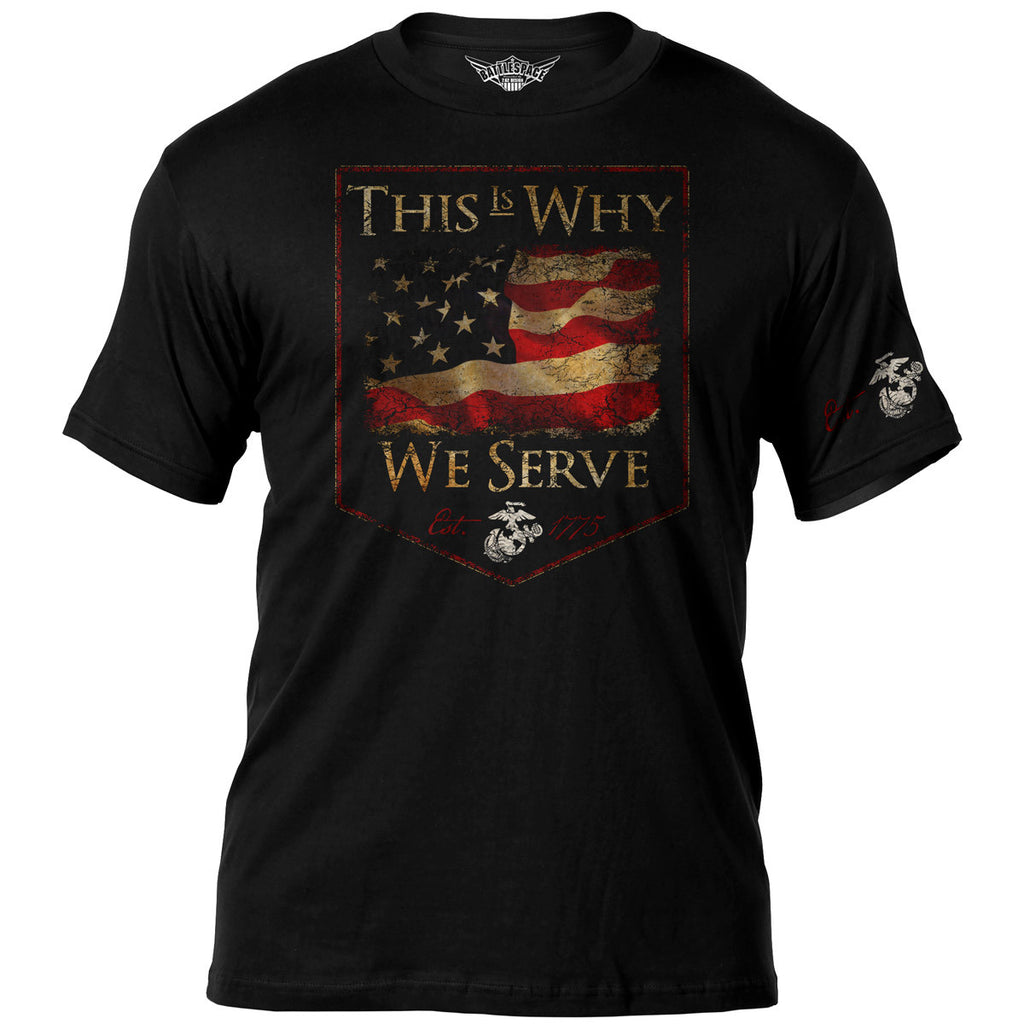 USMC 'This Is Why' 7.62 Design Battlespace Men's T-Shirt- 7.62 Design
