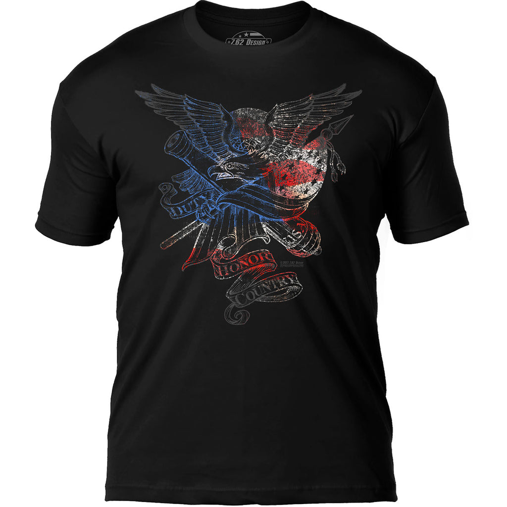 'Duty Honor Country' 7.62 Design Premium Men's Patriotic T-Shirt- 7.62 Design