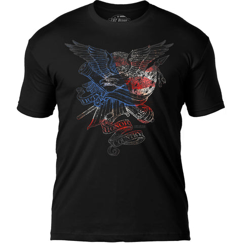 'Duty Honor Country' 7.62 Design Premium Men's Patriotic T-Shirt