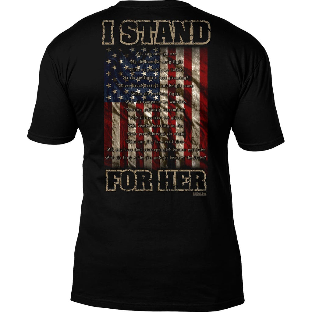 'I Stand For Her' National Anthem 7.62 Design Premium Men's T-Shirt- 7.62 Design