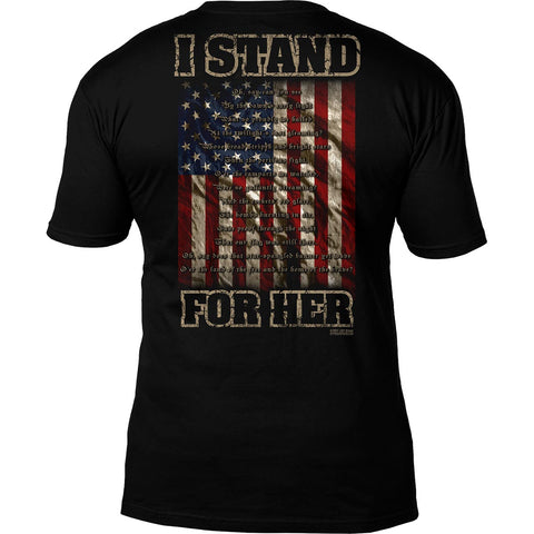 'I Stand For Her' National Anthem 7.62 Design Premium Men's T-Shirt