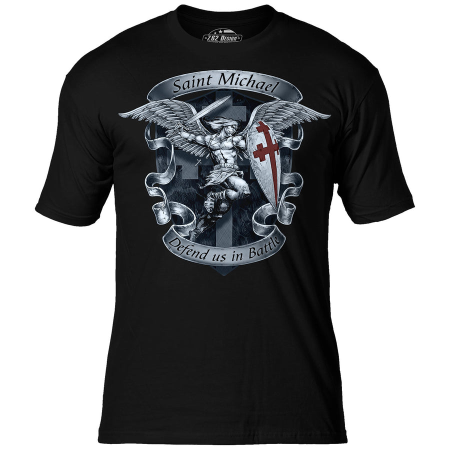 9622b054 St Michael 'Defend Us' 7.62 Design Premium Men's T-Shirt
