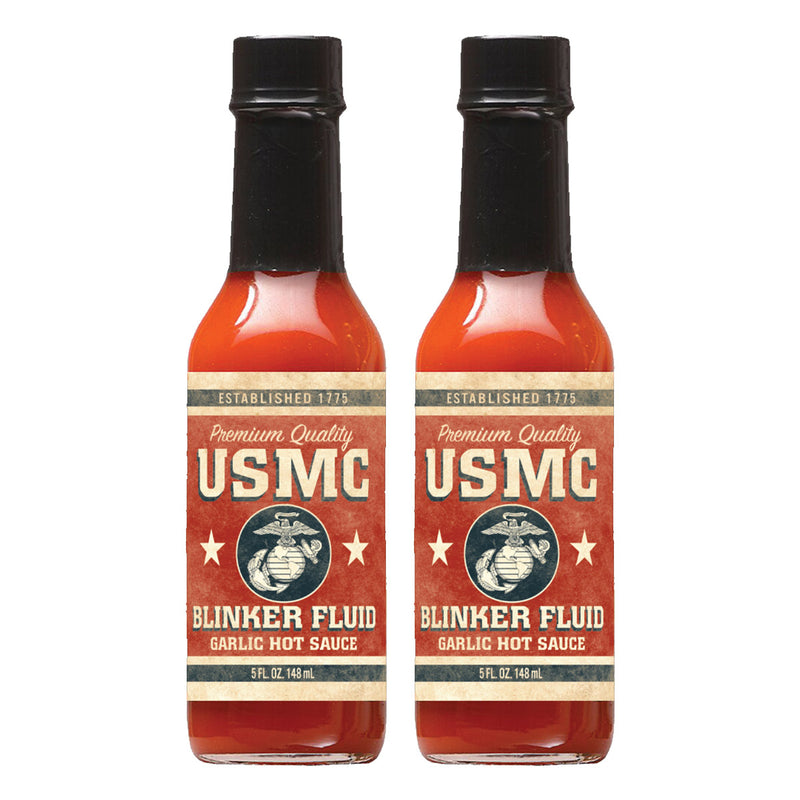 USMC Blinker Fluid Garlic Hot Sauce 2 Pack