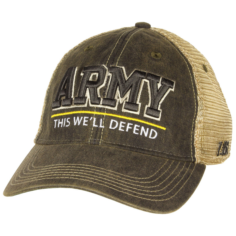 US Army 'Defend' Vintage Trucker Hat