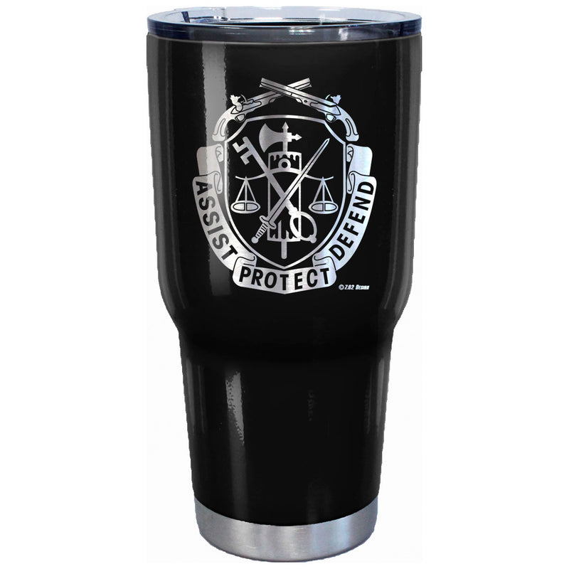 7.62 Design US Army Military Police Logo Laser Etched 32oz Travel Mug - Officially Licensed