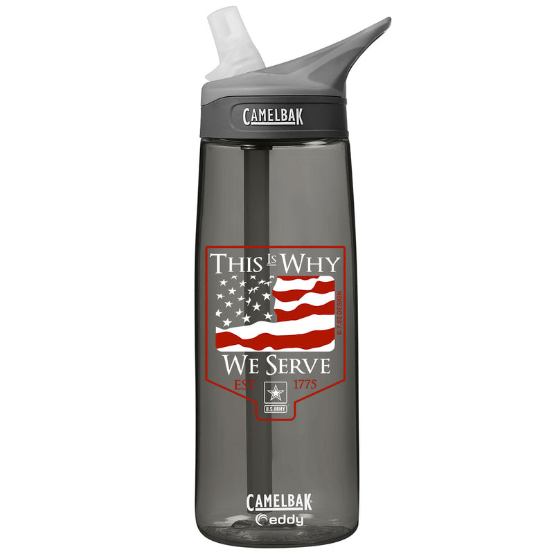 Army 'This is Why' .75 Liter Camelbak Eddy Bottle Charcoal- 7.62 Design