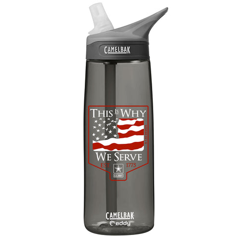 Army 'This is Why' .75 Liter Camelbak Eddy Bottle Charcoal