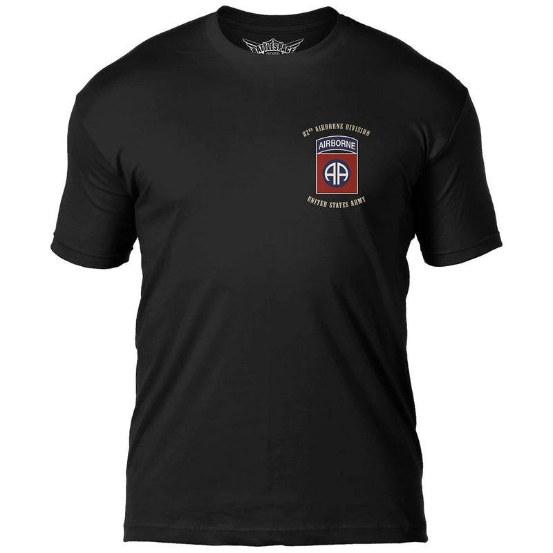 U.S. Army 82nd Airborne Flags 'All Americans' 7.62 Design Battlespace Men's T-Shirt- 7.62 Design