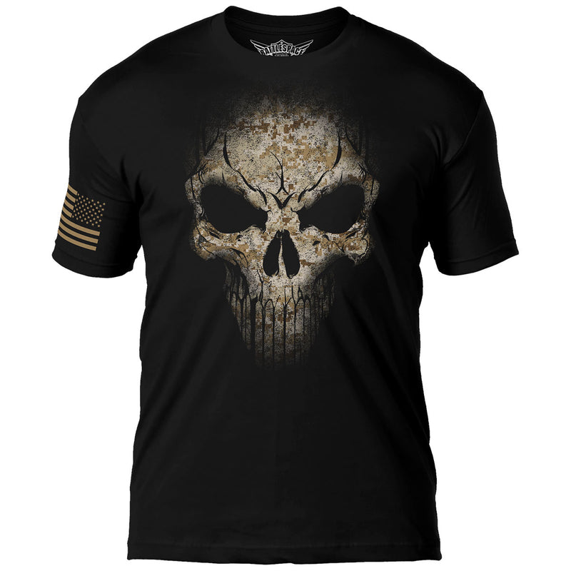 USMC Desert MARPAT Skull 7.62 Design Battlespace Men's T-Shirt- 7.62 Design