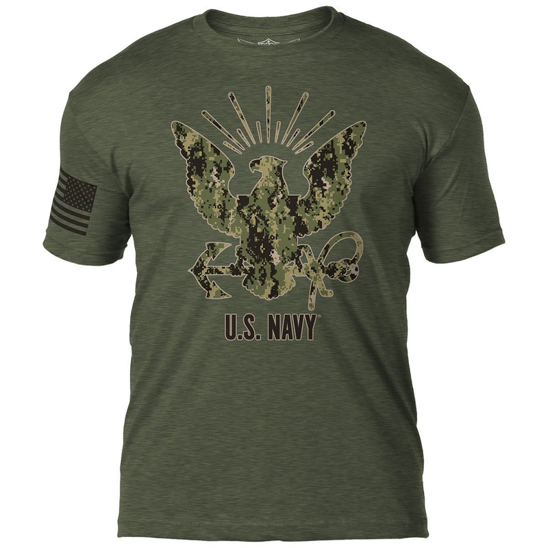 U.S. Navy Type-3 Eagle 7.62 Design Battlespace Men's T-Shirt- 7.62 Design