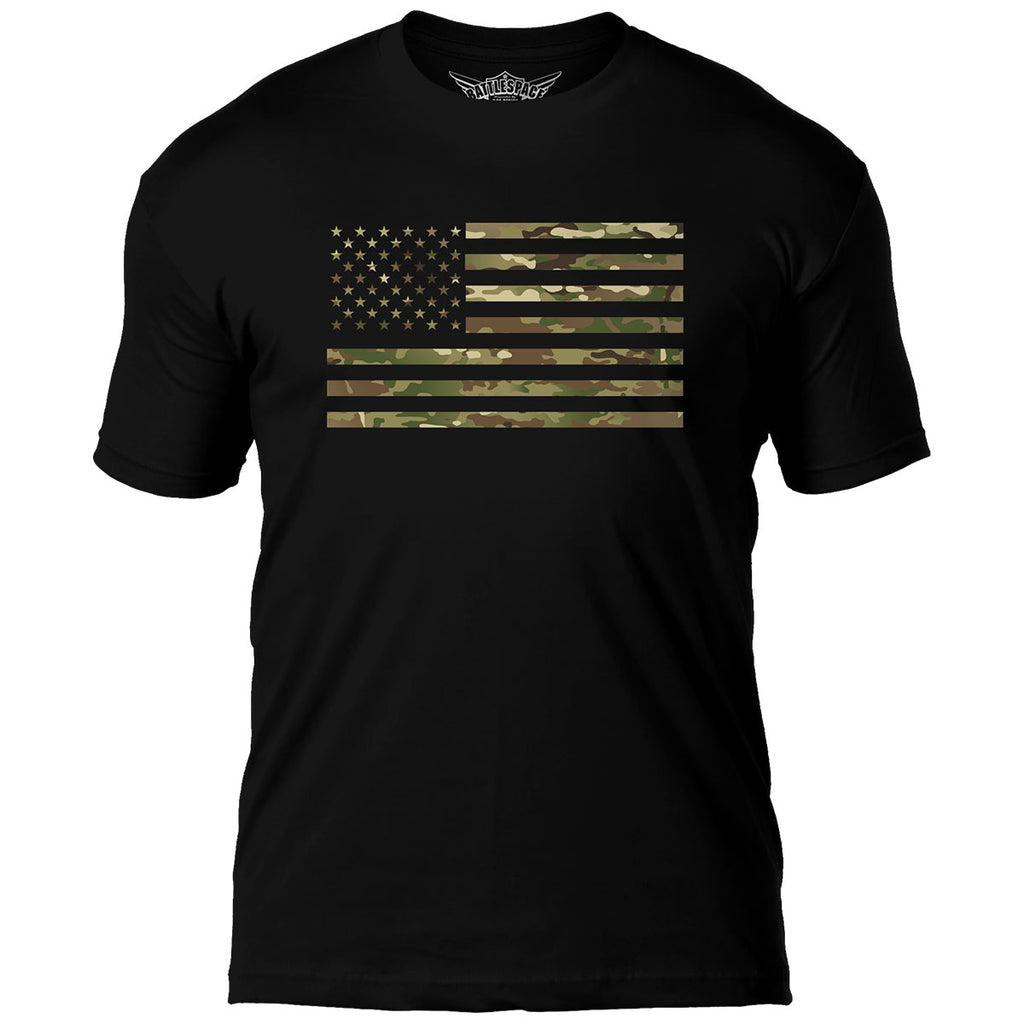 Camo Flag 7.62 Design Battlespace Men's T-Shirt- 7.62 Design