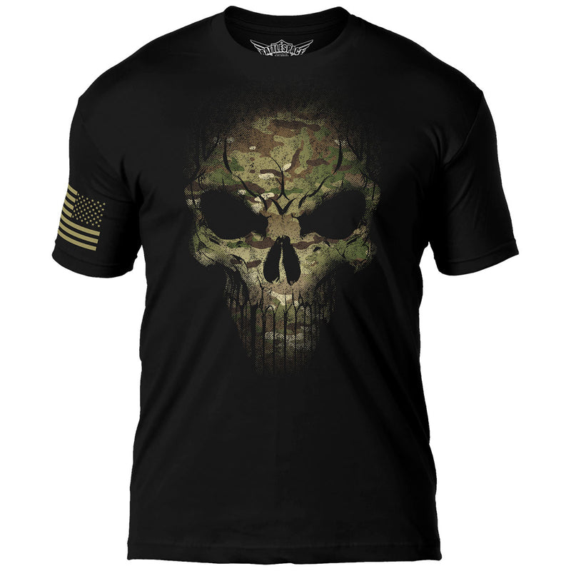 Camo Skull 7.62 Design Battlespace Men's T-Shirt- 7.62 Design