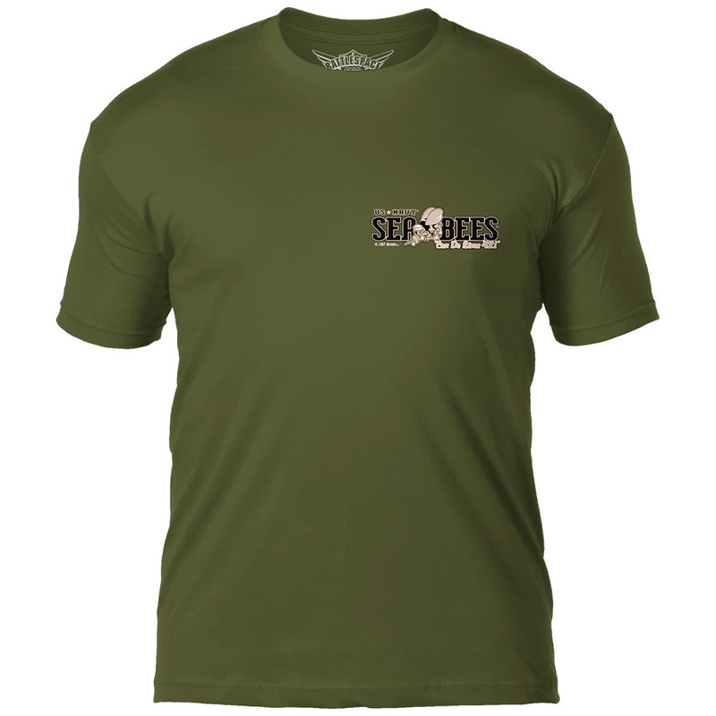 US Navy Seabees 'Vintage' 7.62 Design Battlespace Men's T-Shirt- 7.62 Design