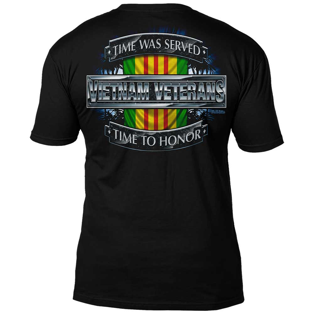 64f70d44 Vietnam Veterans 'Time Served' 7.62 Design Battlespace Men's T-Shirt- 7.62  Design