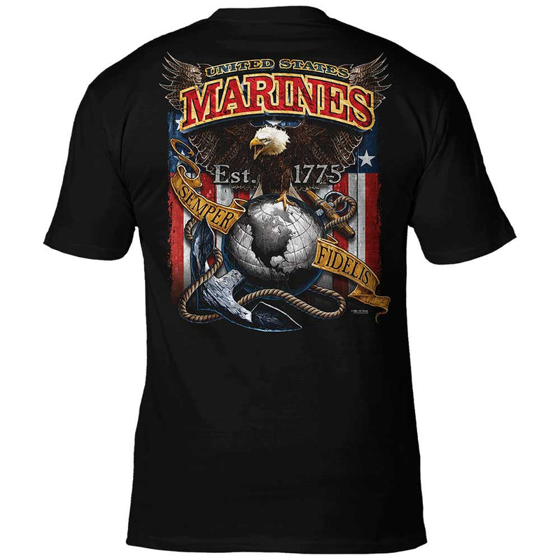 USMC 'Fighting Eagle' 7.62 Design Battlespace Men's T-Shirt- 7.62 Design