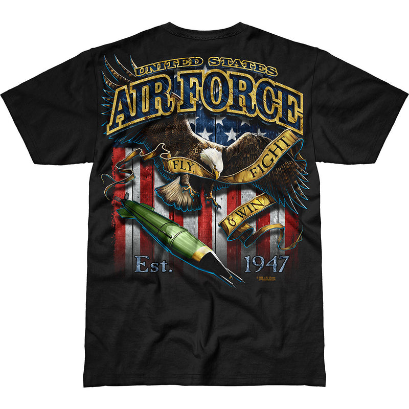 US Air Force 'Fighting Eagle' 7.62 Design Battlespace Men's T-Shirt- 7.62 Design