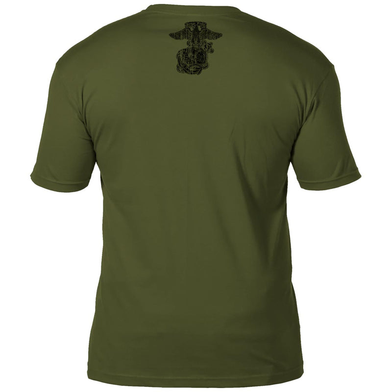 USMC 'Retro' 7.62 Design Battlespace Men's T-Shirt Military Green- 7.62 Design