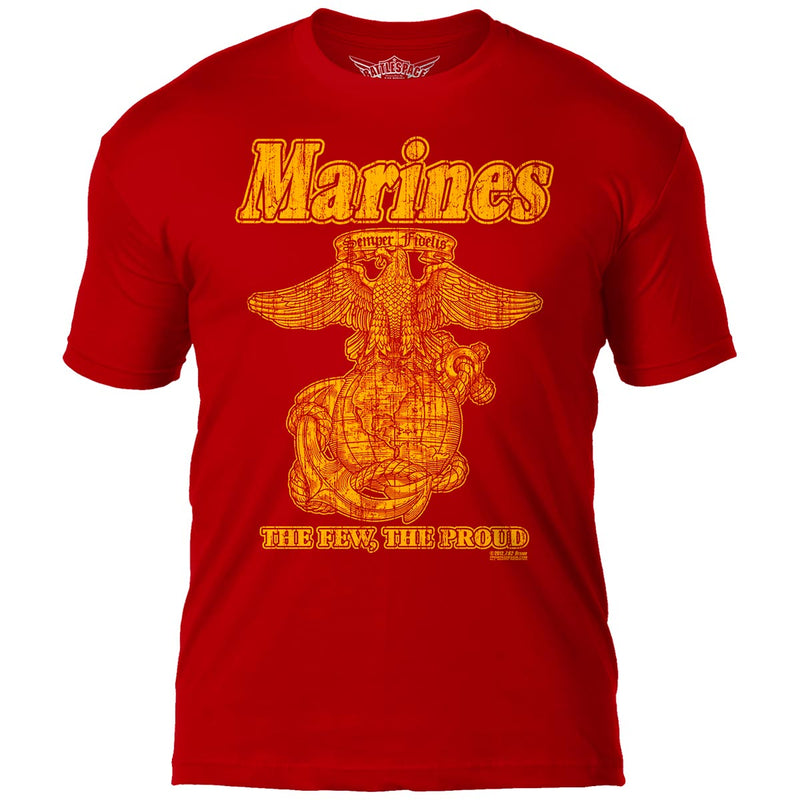 USMC 'Eagle, Globe & Anchor' 7.62 Design Battlespace Men's T-Shirt Scarlet