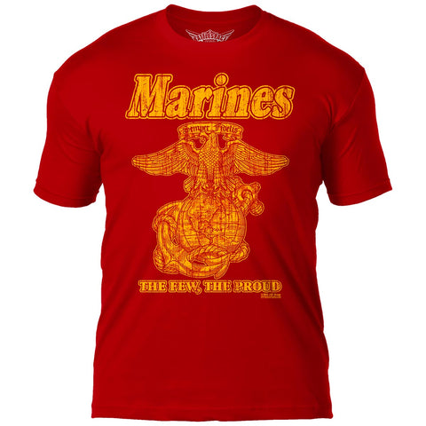 USMC 'Retro' 7.62 Design Battlespace Men's T-Shirt Scarlet