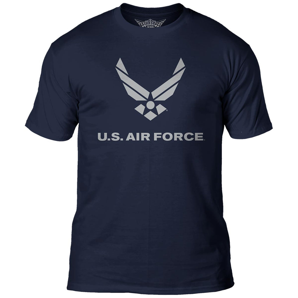 US Air Force 'Flight' 7.62 Design Battlespace Men's T-Shirt Navy- 7.62 Design