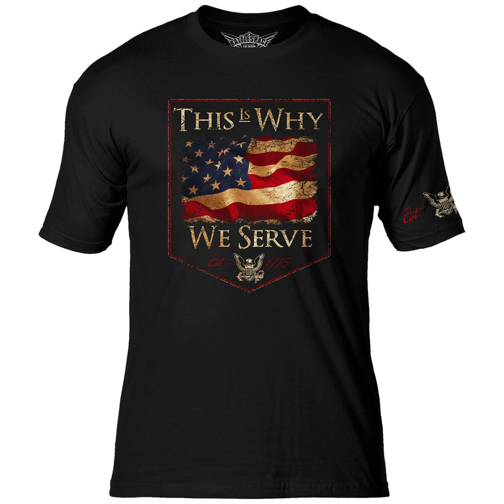 US Navy 'This Is Why' 7.62 Design Battlespace Men's T-Shirt- 7.62 Design
