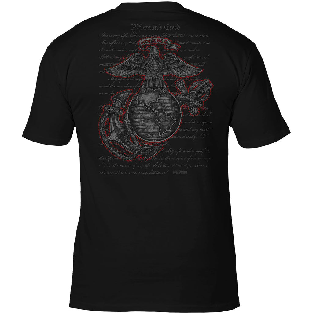 USMC 'Rifleman's Creed' 7.62 Design Battlespace Men's T-Shirt Black- 7.62 Design