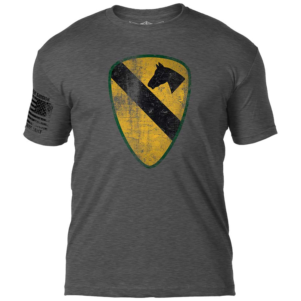 Army 1st Cavalry 'Distressed' 7.62 Design Battlespace Men's T-Shirt- 7.62 Design