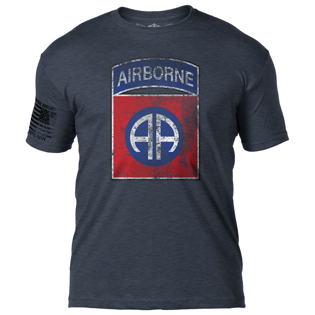 Army 82nd Airborne 'Distressed' 7.62 Design Battlespace Men's T-Shirt- 7.62 Design