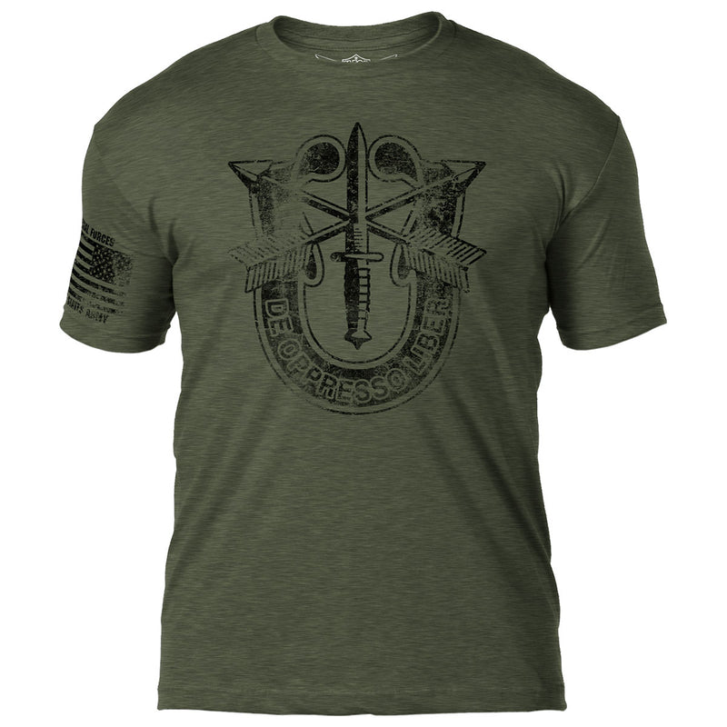Army Special Forces 'Distressed' 7.62 Design Battlespace Men's T-Shirt- 7.62 Design