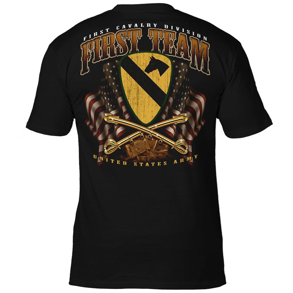 U.S. Army 1st Cavalry 'First Team' 7.62 Design Battlespace Men's T-Shirt- 7.62 Design