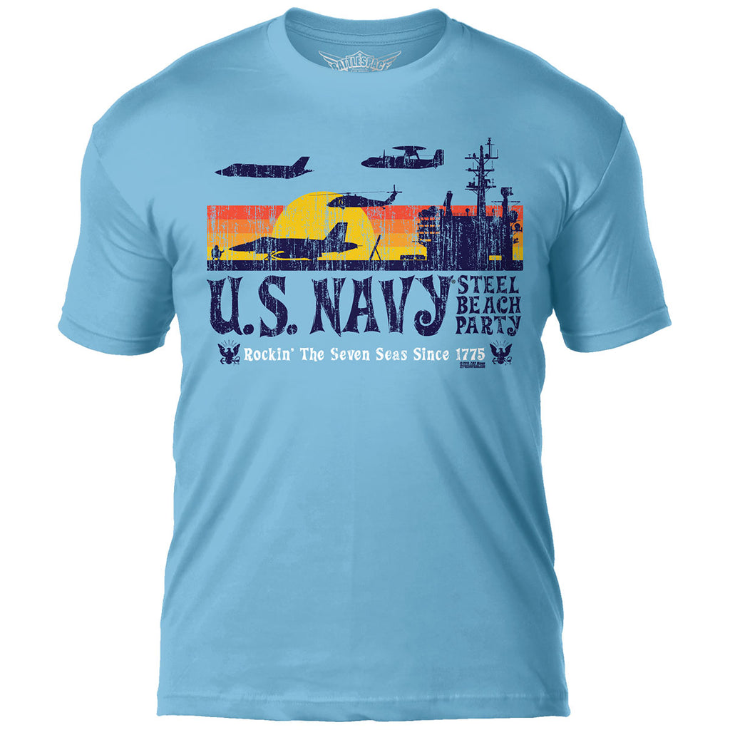 US Navy 'Steel Beach Party' 7.62 Design Battlespace Men's T-Shirt- 7.62 Design