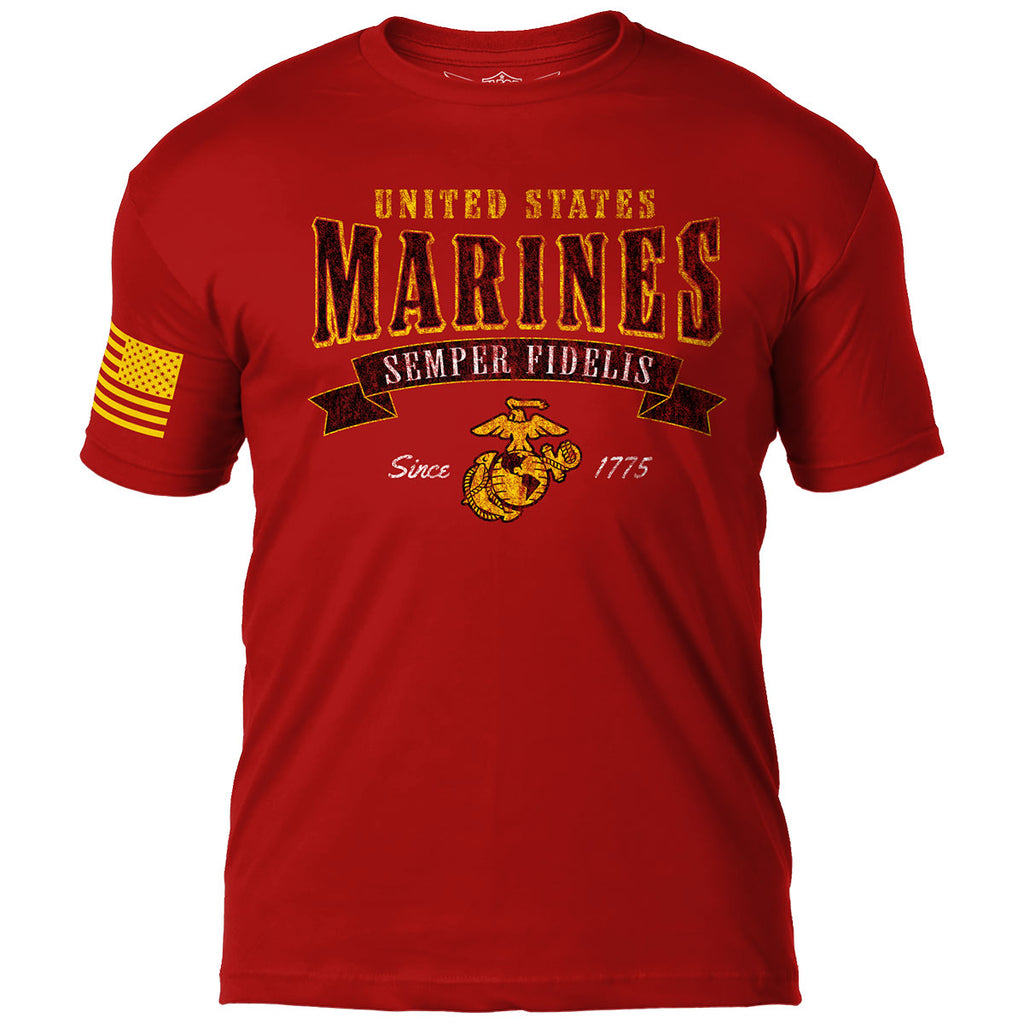 USMC ' Arched Semper Fi' 7.62 Design Battlespace Men's T-Shirt