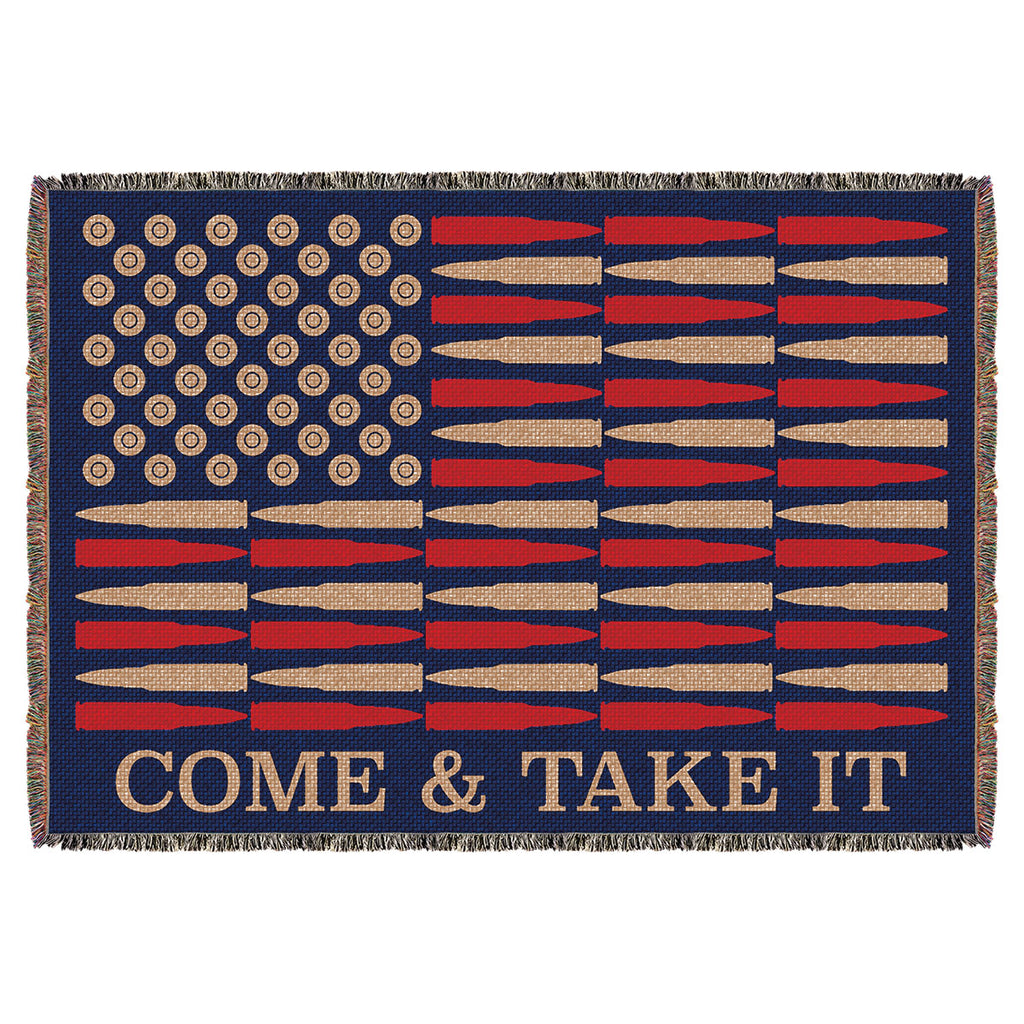"'Come & Take It' 7.62 Design 53"" x 70"" Throw Blanket- 7.62 Design"