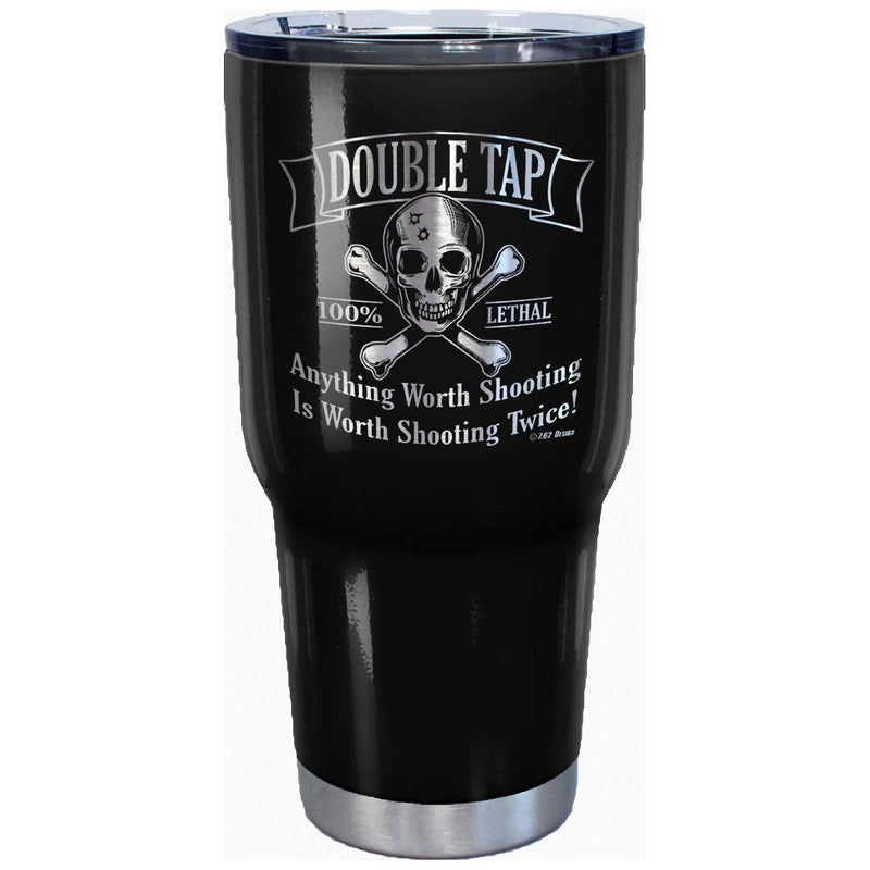 7.62 Design Double Tap Laser Etched 32oz Travel Mug