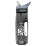 US Navy Go Navy .75 Liter Camelbak Eddy Bottle Charcoal/White- 7.62 Design