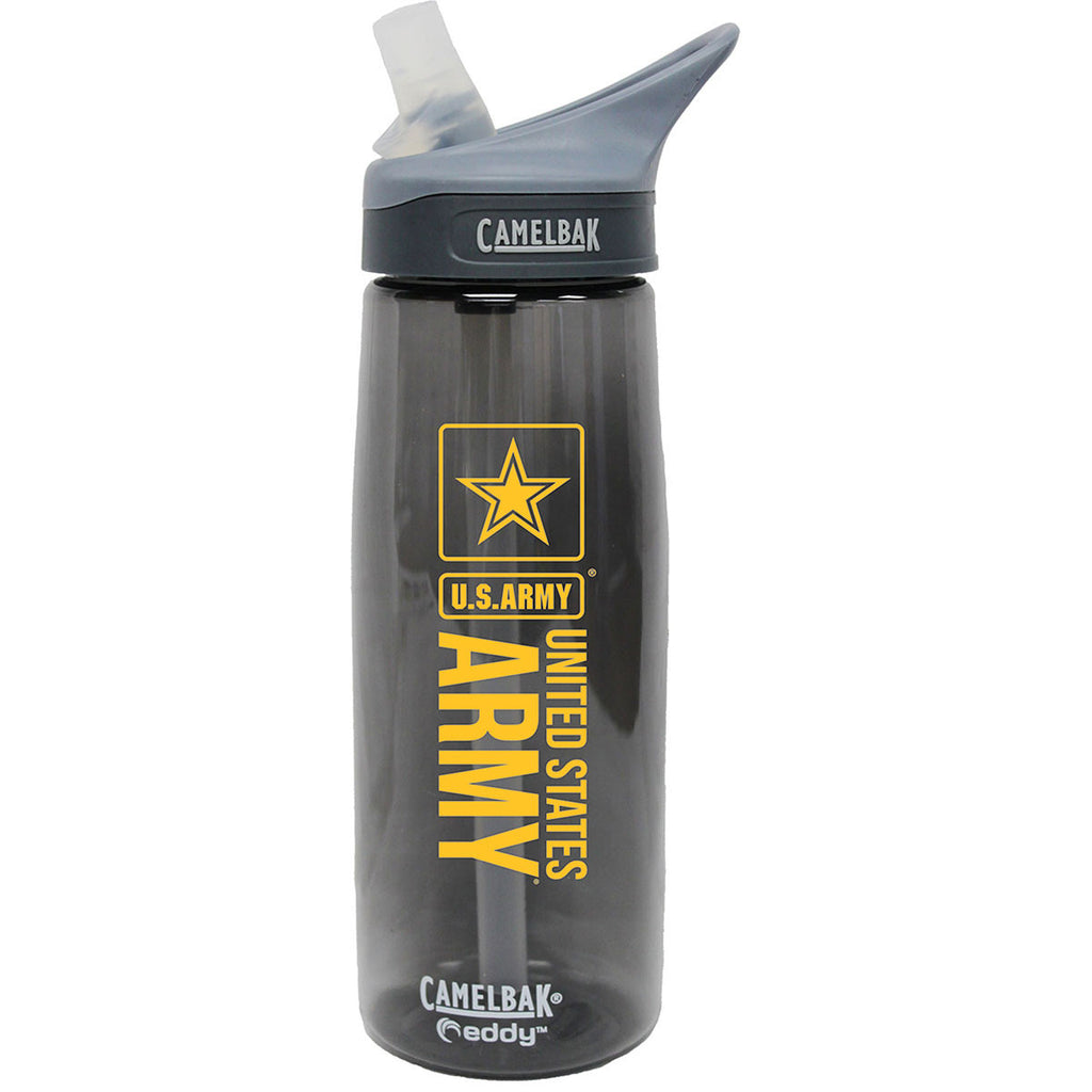 Army .75 Liter Camelbak Eddy Bottle Charcoal- 7.62 Design