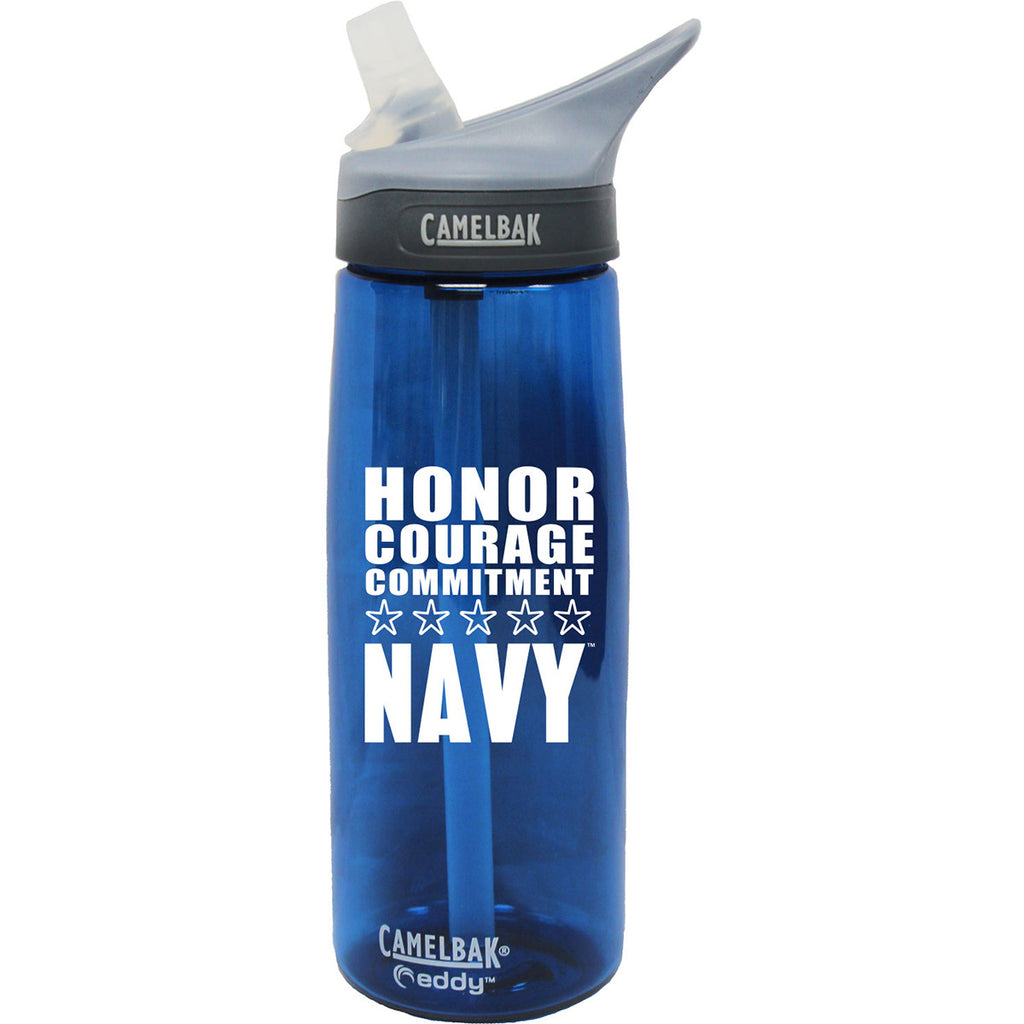 US Navy .75 Liter Camelbak Eddy Bottle Oxford/White- 7.62 Design