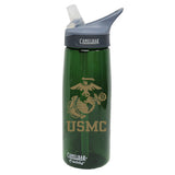 USMC Eagle Globe & Anchor .75 Liter Camelbak Eddy Bottle Pine/Gold