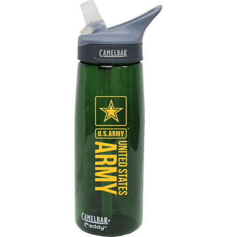 Veteran 'This is Why' .75 Liter Camelbak Chute Bottle Charcoal