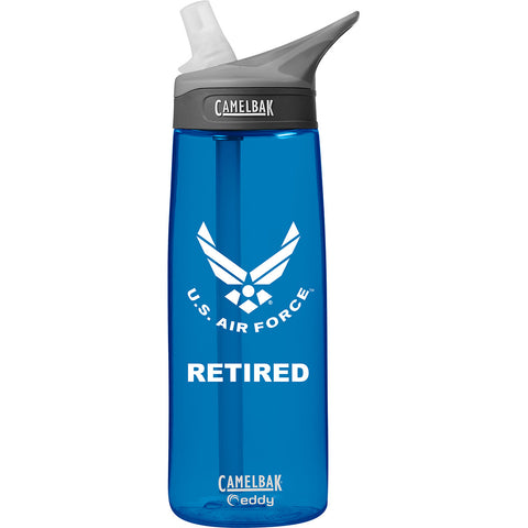 US Air Force Retired .75 Liter Camelbak Eddy Bottle Oxford/White