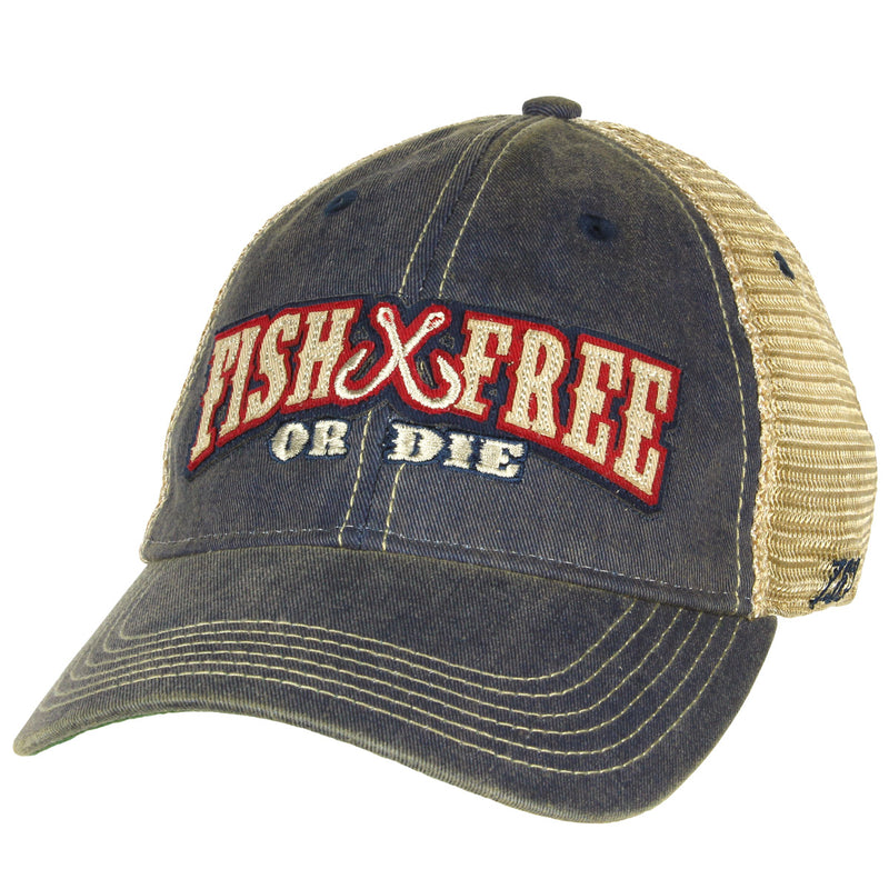 'Fish Free or Die' Vintage Trucker Hat