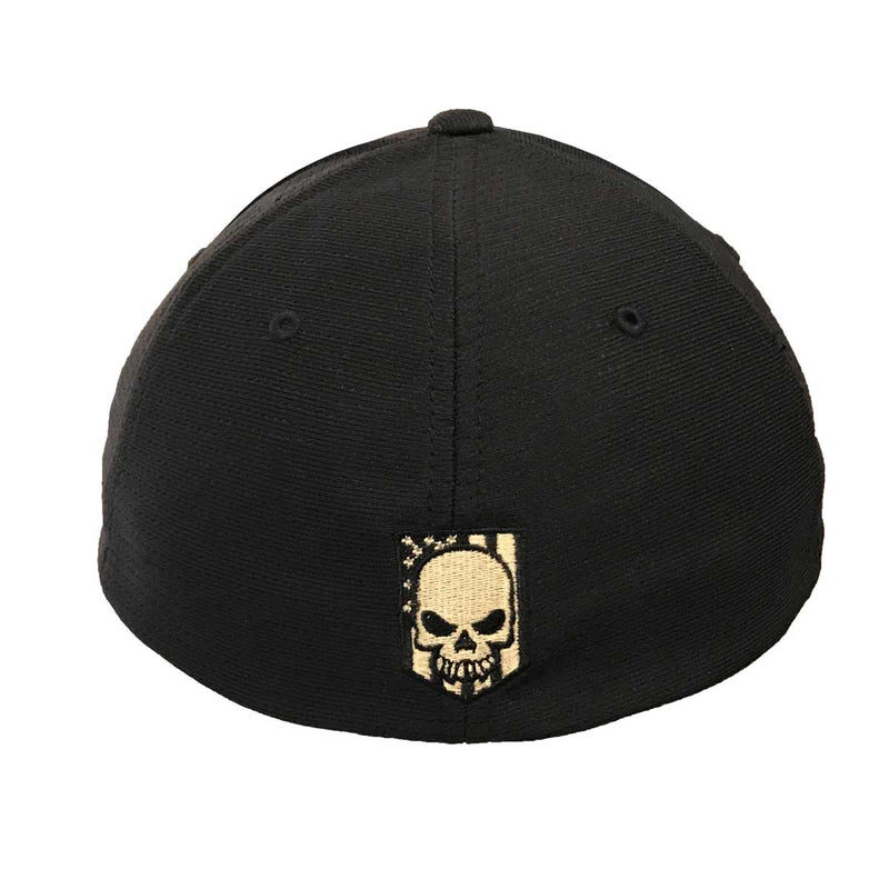 7.62 Design Flexfit Black Embroidered Flag Hat- 7.62 Design