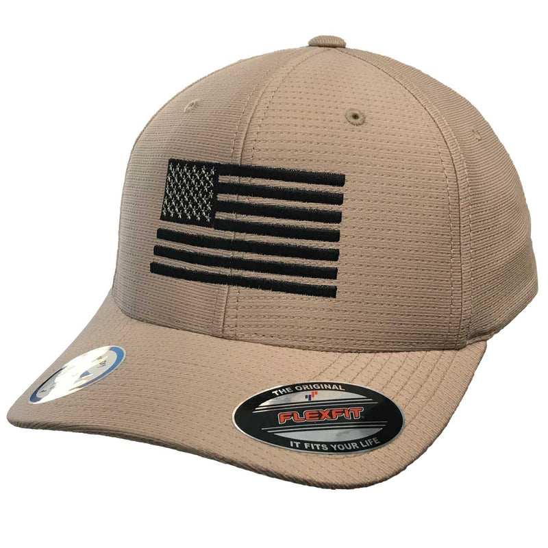 7.62 Design Flexfit Khaki Embroidered Flag Hat- 7.62 Design