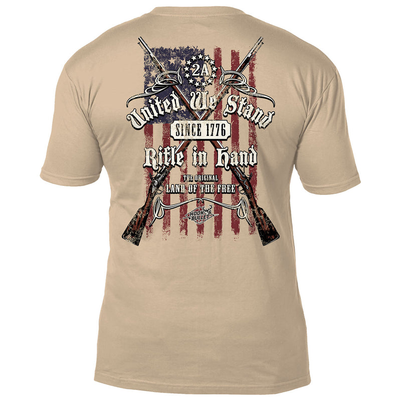 2nd Amendment 'United We Stand' Hook & Bullet Life Men's T-Shirt- 7.62 Design