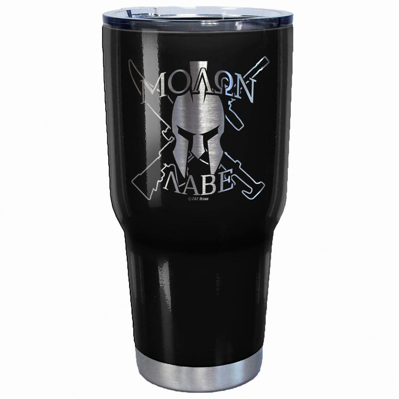 7.62 Design Molon Labe Laser Etched 32oz Travel Mug