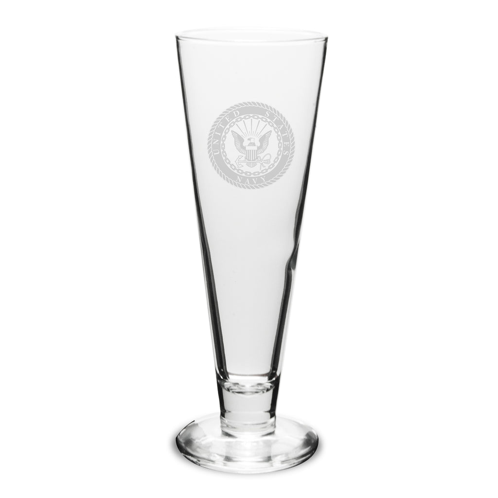 USN 23oz Deep Etched Stylish Pilsners, Set of 2- 7.62 Design
